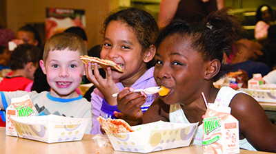 Kids enjoying summer meals