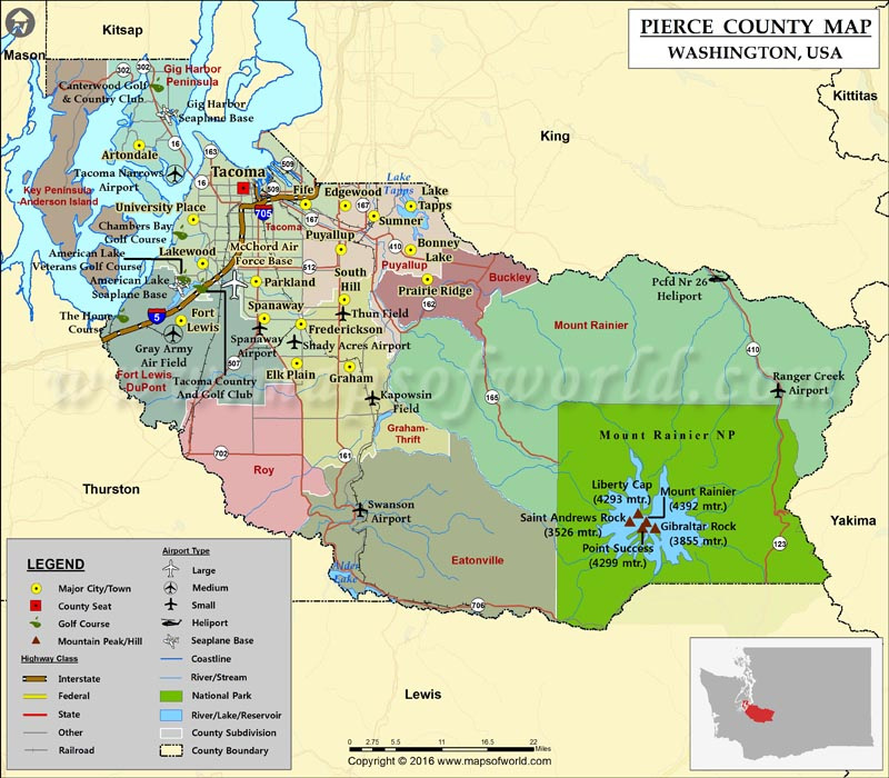 Pierce County Map